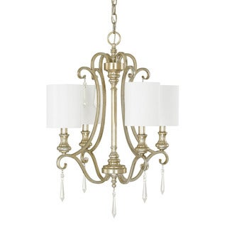 Austin Allen & Company Ansley Park Collection 4-light Iced Gold Chandelier