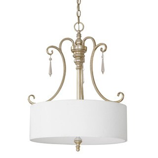 Austin Allen & Company Ansley Park Collection 3-light Iced Gold Pendant