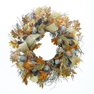 Acorns, Oak, and Pinecone Wreath