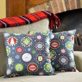 Holiday Cheer Decorative Christmas 18-inch Throw Pillows (Set of 2)