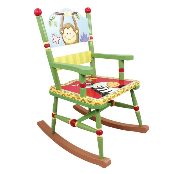 Sunny Safari Monkey and Zebra Rocking Chair