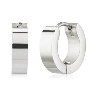 Women's Stainless Steel Polished Hoop Earrings