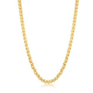 Crucible Stainless Steel 24-inch Spiga Chain Necklace