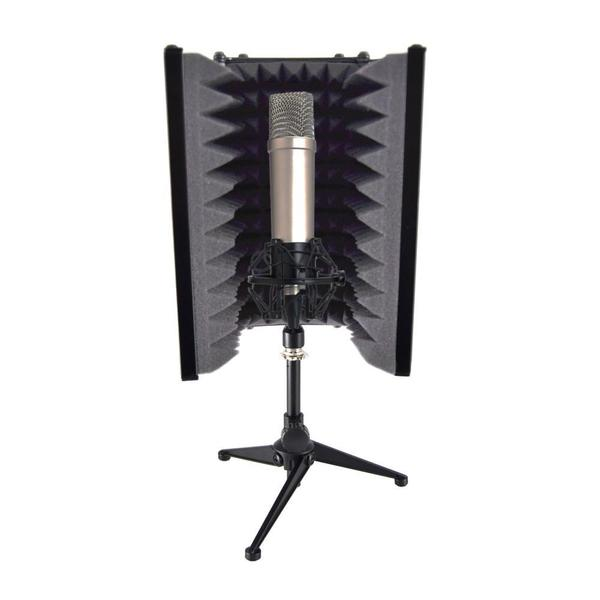 Pyle PSMRS08 Compact Microphone Isolation Shield/ Studio Mic Sound Dampening Foam Reflector
