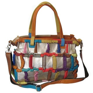 Amerileather Rainbow Ringlet Handbag