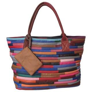 Amerileather 'Rozaly' Multicolor Leather Handbag