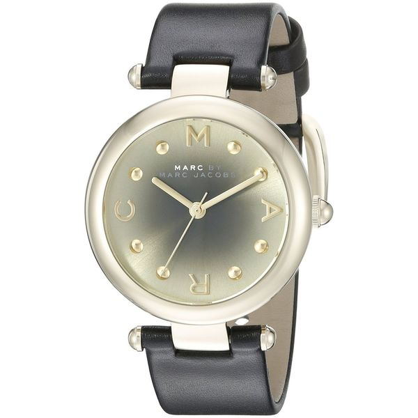 Marc Jacobs Women's MJ1409 'Dotty' Black Leather Watch
