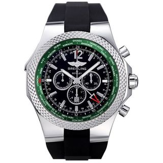 Breitling Men's A47362S4-B919-B 'Bentley GMT' Automatic Chronograph Black Rubber Watch