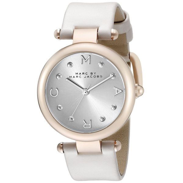 Marc Jacobs Women's MJ1408 'Dotty' White Leather Watch