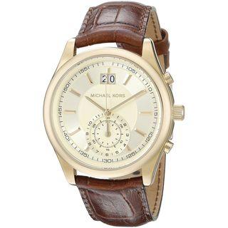 Michael Kors Men's MK8459 'Aiden' Chronograph Brown Stainless Steel Watch