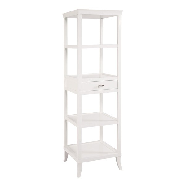 Tamara White Tower Shelves