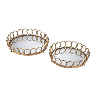 Sterling Loop Mirrored Trays