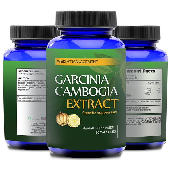 Garcinia Cambogia 800mg HCA Natural Appetite Suppressant (Three Month Supply)