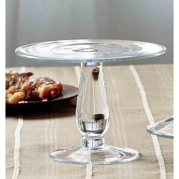 TAG Majestic Footed Cake Plate, Clear Glass