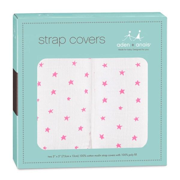 aden + aais Florescent Pink 2-piece Strap Covers