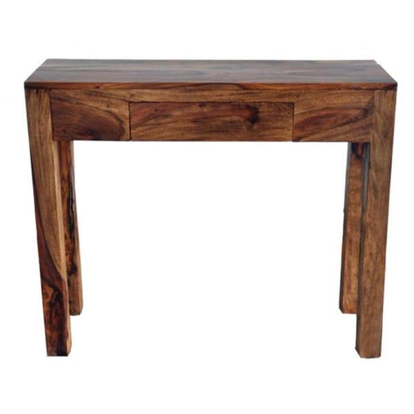 Idris Solid Sheesham Wood Console Table Dark Sheesham