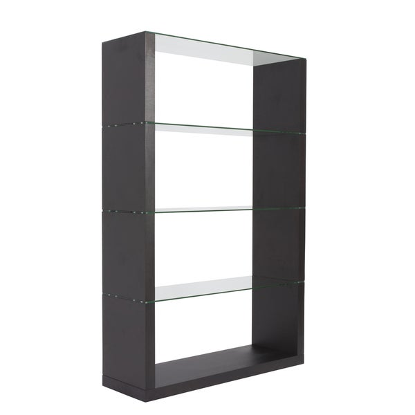 Lennox Wenge Shelving Unit Glass