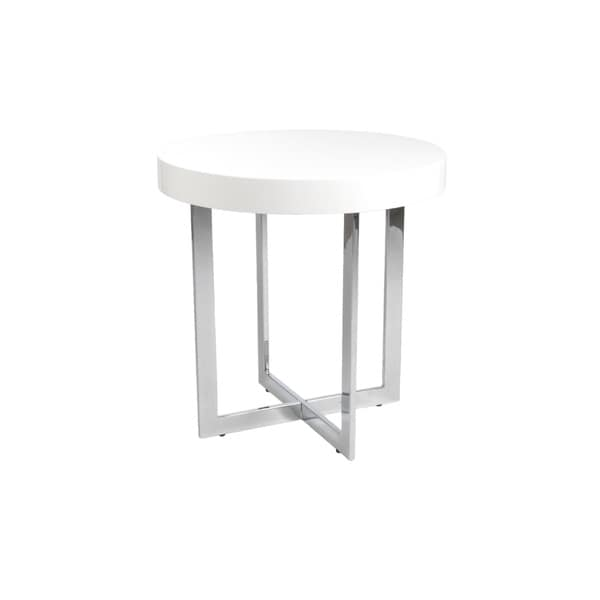 Oliver White Side Table