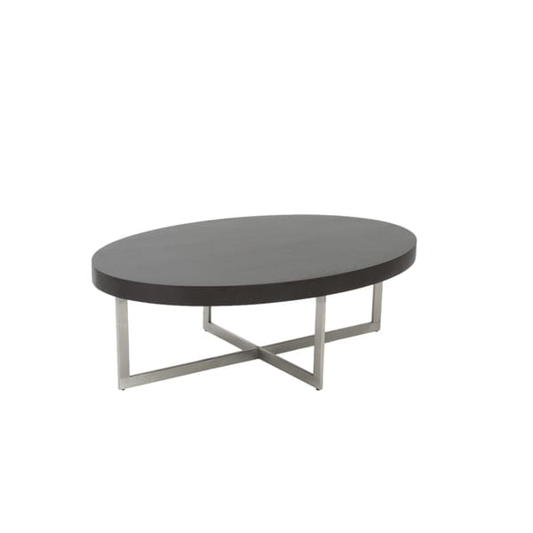 Oliver Wenge and Stainless Steel Coffee Table