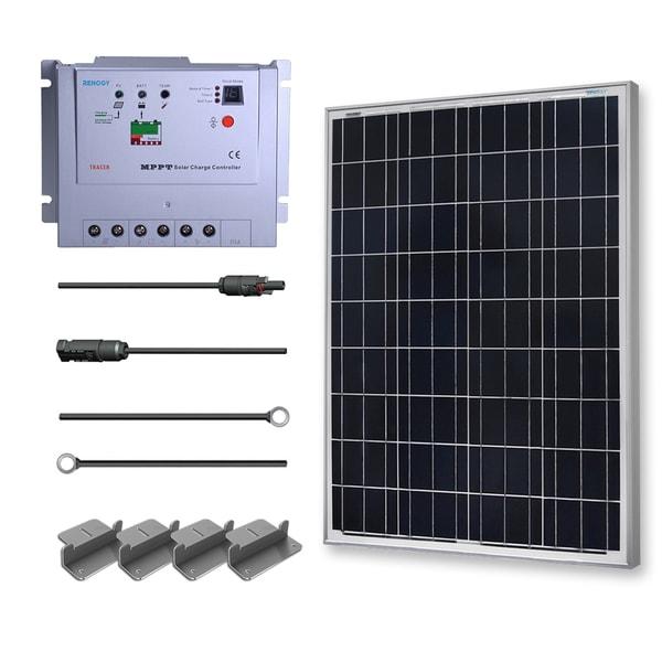 Renogy 100 Watts 12 Volts Polycrystalline Solar Premium Kit