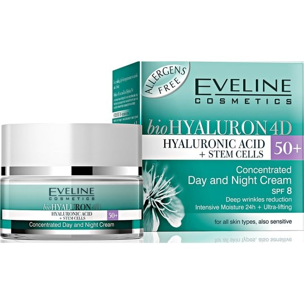 Eveline Bio Hyaluron 4D Day And Night Cream 50+