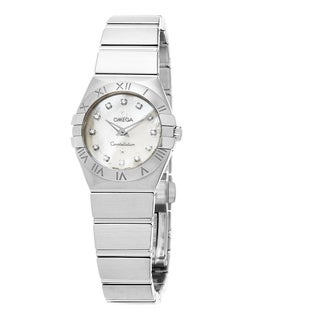 Omega Women's 123.10.24.60.55.001 'Constellation' Mother of Pearl Diamond Dial Stainless Steel Swiss Quartz Watch