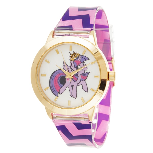 My Little Pony Girls Watch / Gold Case with Pink Rubber Strap