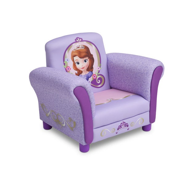 Sofia the First Upholstered Chair by Delta Children