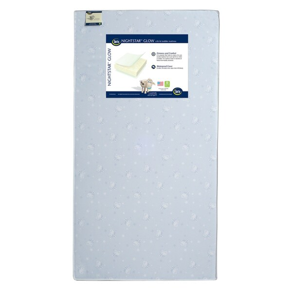 Nightstar Glow Crib and Toddler Mattress 16561917