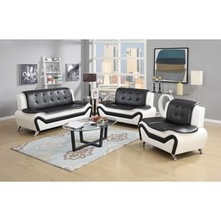 Wanda 3-Piece Modern Bonded Leather Sofa Set