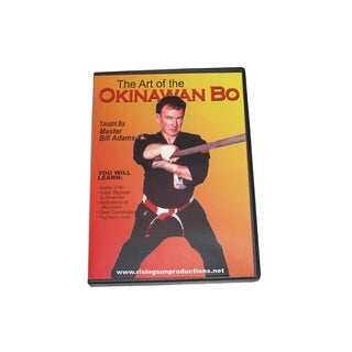 Art Okinawan Kobudo Bo Staff Training DVD Bill Adams RS68 martial arts karate