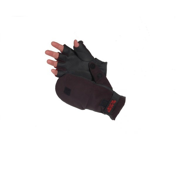 Glacier Glove Alaska River Flip Mitt Glove, Black