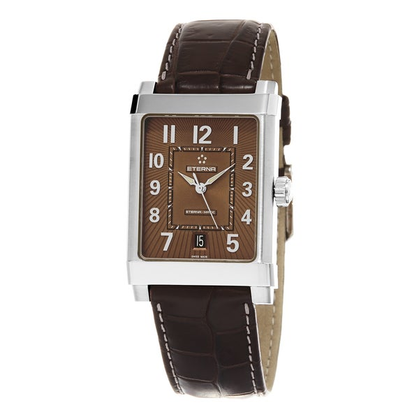 Eterna Men's 8492.41.24.1163D '1935' Brown Dial Brown Leather Strap Swiss Automatic Watch
