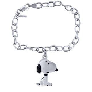 Bridal Symphony Sterling Silver Snoopy Diamond Accent Bracelet