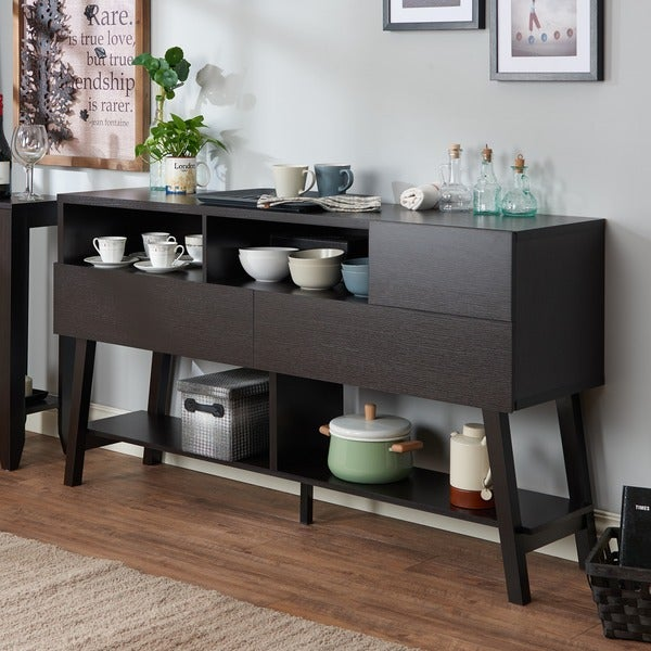 Furniture of america kolbie modern 60 inch 3 drawer dining for Furniture of america alton modern multi storage buffet espresso