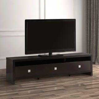 Furniture of america linden modern glass top tv stand for Furniture of america danbury modern