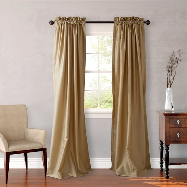 Heritage Landing 108 inch Faux Silk Lined Drape Set In Ivory (As Is Item)