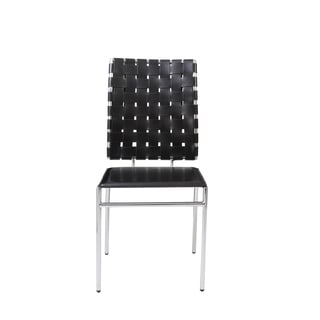 Carina Black and Chrome Side Chair (Set of 4)