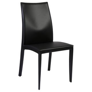 Dafney Side Chair (Set of 2) - Black Leather