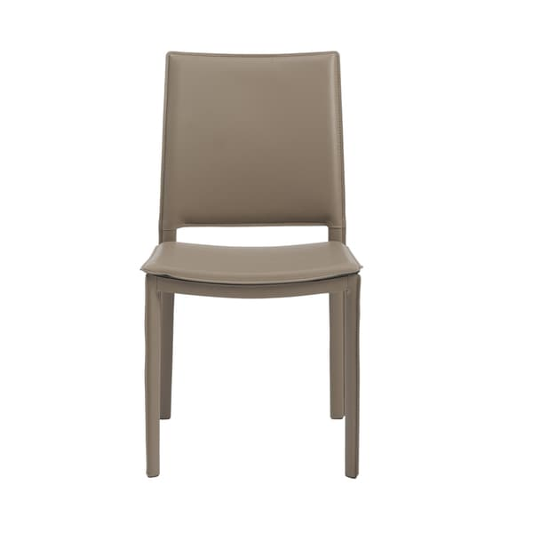 Kate Taupe Leatherette Dining Chair Set of 4