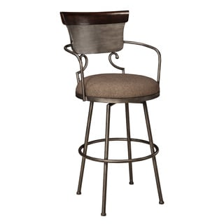 Signature Design by Ashley Moriann Two-tone 30-inch Metal with Back Barstool (Set of 2)