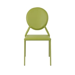 Isabella Green Leather Side Chairs (Set of 2)