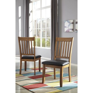 Signature Design by Ashley Joveen Black/Brown Dining Upholstered Side Chair (Set of 2)