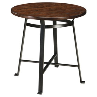 Signature Design by Ashley Challiman Rustic Brown Round Bar Height Table