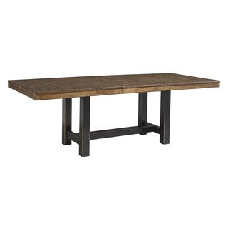 Signature Design by Ashley Everfield Two-tone Brown Rectangle Extension Table