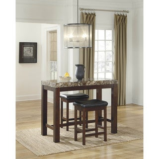 Signature Design by Ashley Kraleene Dark Brown Rectangle Counter Height Table