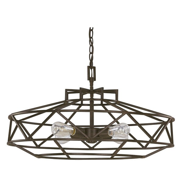Austin Allen & Company Finn Collection 4-light Textured Brown Pendant