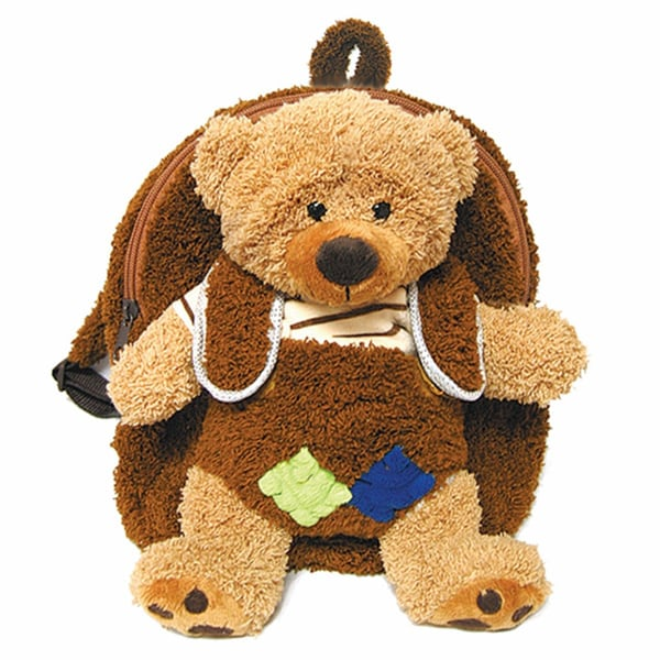 Plush Best Buddy Toddler Backpack Little Brown Bear