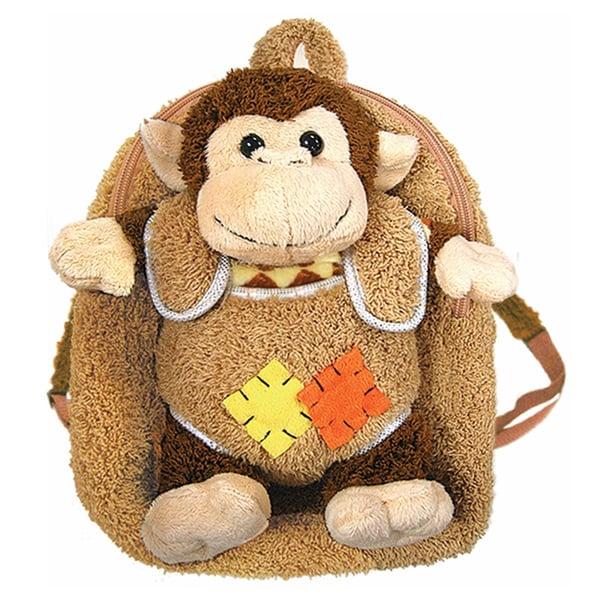 Plush Best Buddy Toddler Backpack Whimsical Monkey
