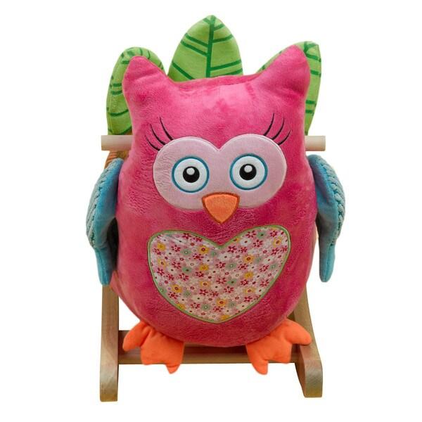 Owlivia Pink Owl Rocker